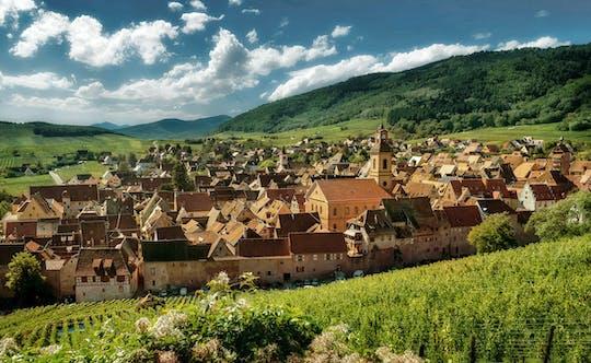 Excursión de día completo en coche convertible a la ruta del vino de Alsacia.
