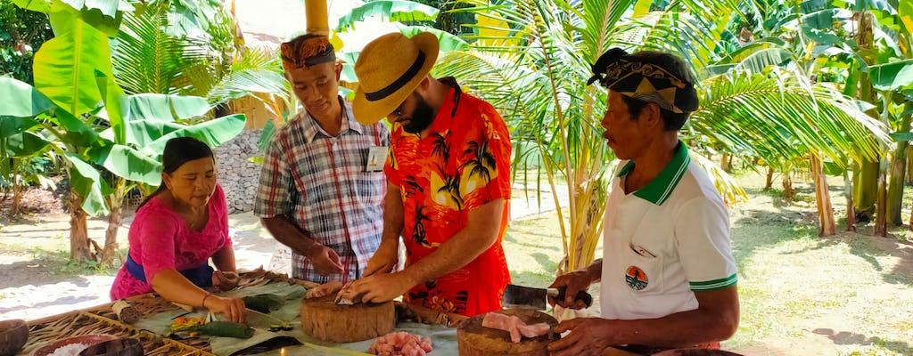 Experiência única de aula de culinária de Bali no The Living Museum Bali