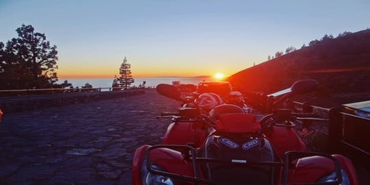 Quad tour of Teide at sunset