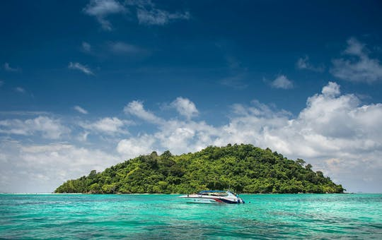Visite des îles Phi Phi en bateau à moteur avec déjeuner sur la plage de Ton Sai