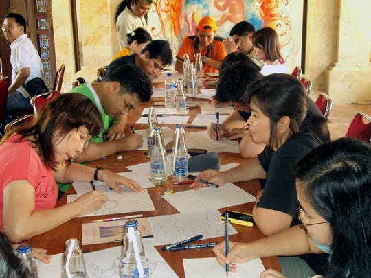 Balinesischer Malerei-Workshop von Arma