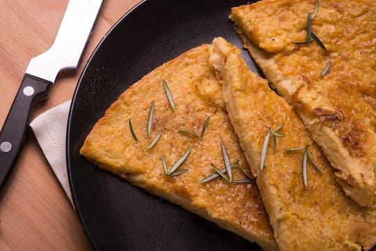 Cheese focaccia and farinata cooking class