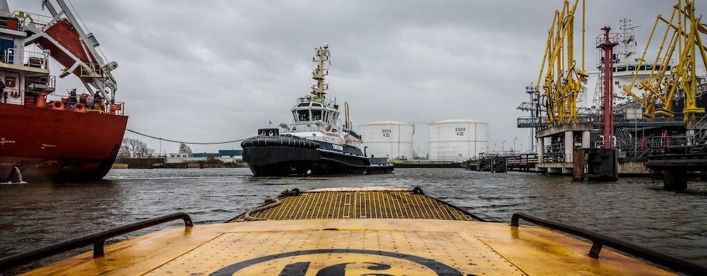 Wycieczka po porcie w Amsterdamie na statku wycieczkowym