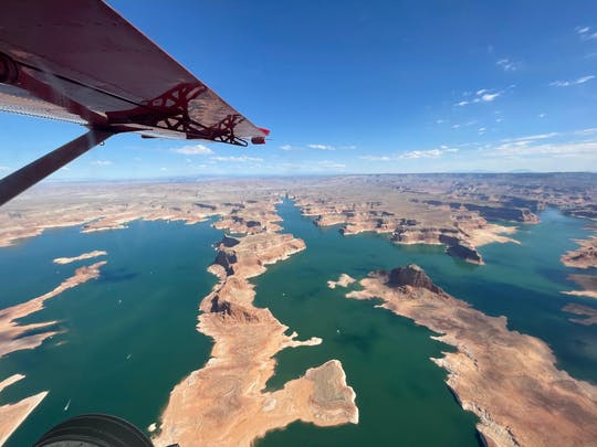 Lake Powell, Monument Valley, and Canyonlands combo airplane scenic tour