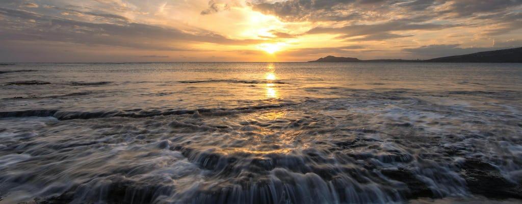 Visite d'Hawaï au coucher du soleil dans l'est d'Oahu