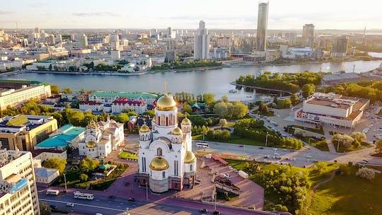 Grens Europa en Azië plus privérondleiding door de stad Yekaterinburg