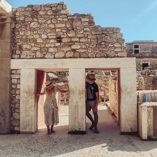 Tour privado da Caverna de Zeus e palácio de Knossos de Chania