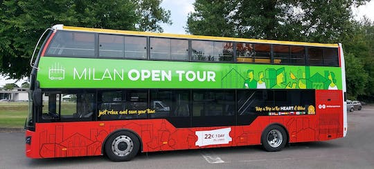 Milan Open Tour hop-on hop-off bus 1-day ticket