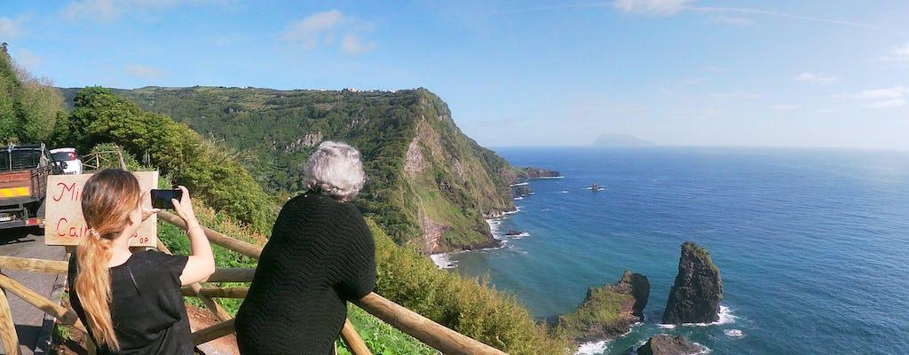 Visite des chutes de l'île de Flores en minibus