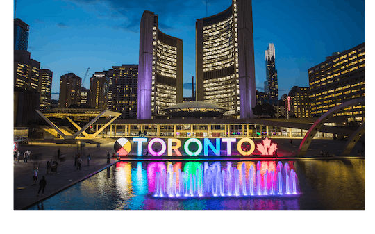 Toronto walking tour pass with 2 guided and 7 self-guided routes