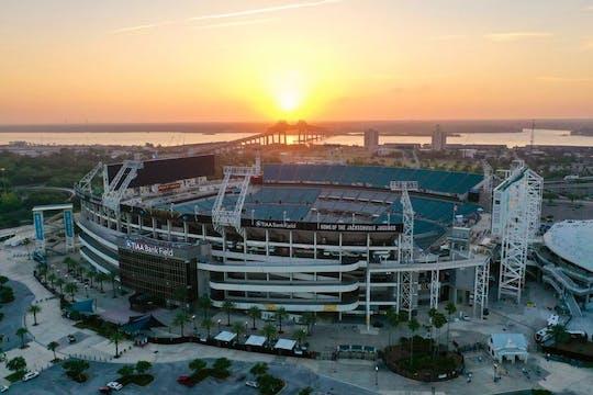 Ingresso e transporte do Jacksonville Jaguars para a NFL saindo de Orlando