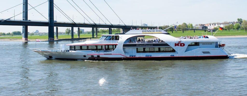 Crucero panorámico en barco por el río en Düsseldorf con audioguía
