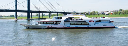 Panorama river boat cruise in Düsseldorf with audio guide