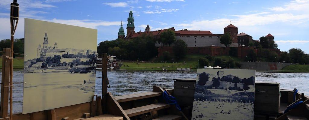 Crucero nocturno histórico en barco de madera por el río Vístula en Cracovia