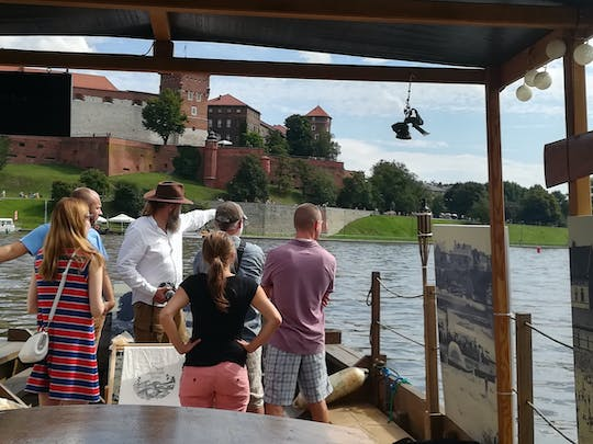 Wooden historical boat cruise on Vistula river from Tyniec to Krakow