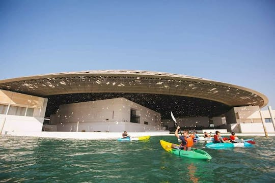 Explore Louvre Museum in a kayak from Abu Dhabi