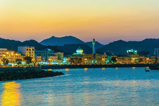 Muscat by night with local dinner