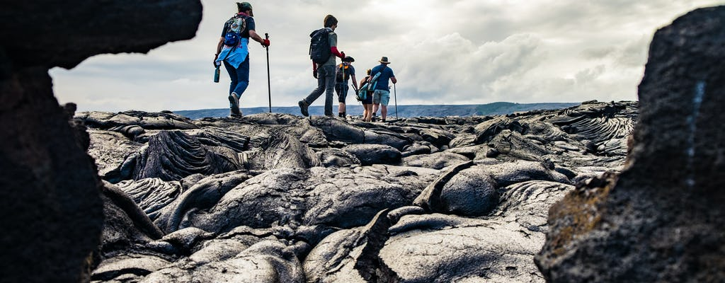Hiking tour of Hawaii Volcanoes National Park and Rainbow Falls
