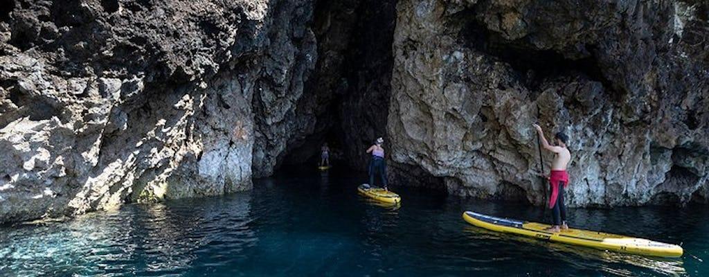 Z przewodnikiem groty i jaskinie Barranco podczas stand up paddle tour