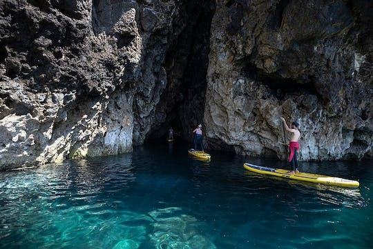 Tour guiado de grutas y cuevas de Barranco en stand up paddle