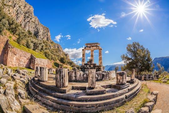 Archeologische vindplaats Delphi met virtual reality uit Athene