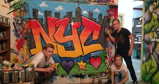 Oficina de grafite em grupo do Brooklyn em Nova York