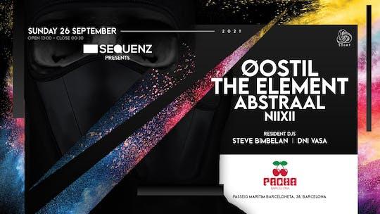 Pacha Barcelona Pres. Sight W- Sequenz; Oostil, The Element, Abstraal, Niixii, Steve Bimbelan & Dani Vasa