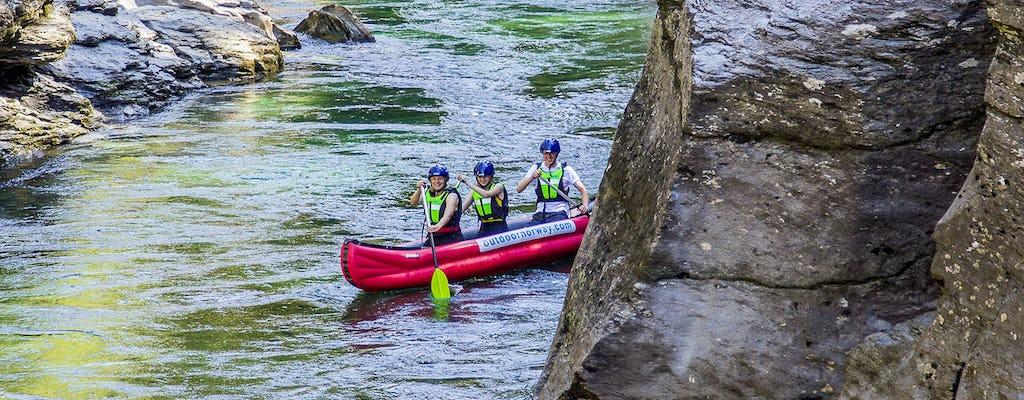 Tour combinado en canoa por el río y bicicleta de montaña en Voss