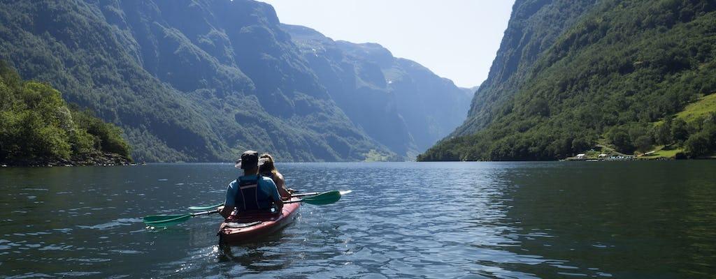 Tour combinato in canoa sul fiume Voss, mountain bike e kayak del fiordo