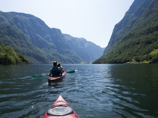 Voss River Kanu-, Mountainbike- und Fjordkajak-Kombitour