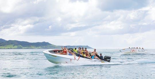 Mauritius fünf private Schnellbootverleih