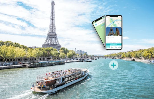 Seine river cruise and Eiffel Tower district tour on your smartphone