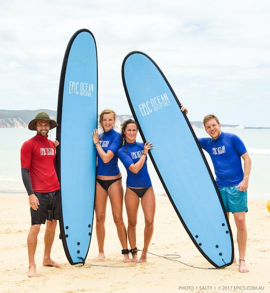 Noosa surf lessons and great beach drive adventure tour