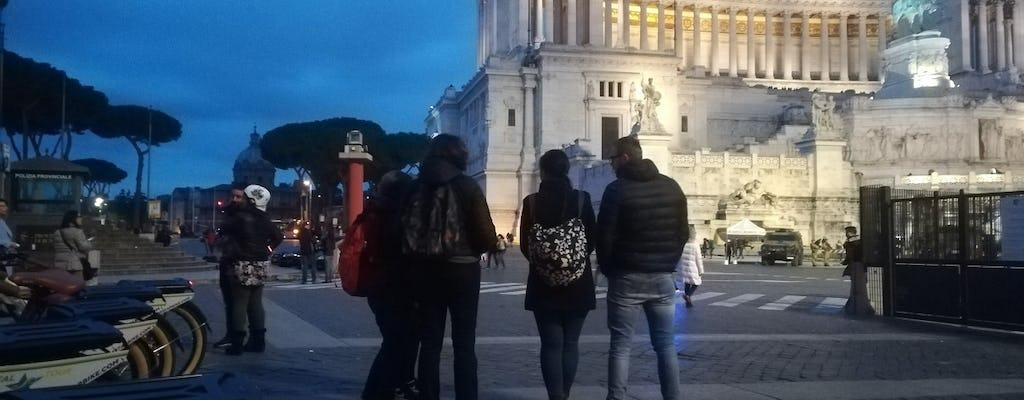 Roma à noite, passeio de bicicleta