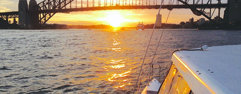 Sunset and sparkle harbor cruise