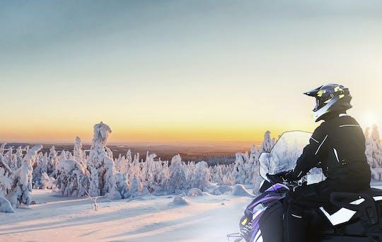 Levi sustainable electric snow mobile safari