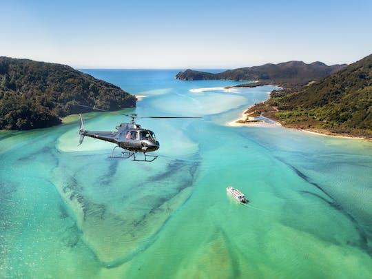 Abel Tasman malownicza wycieczka helikopterem