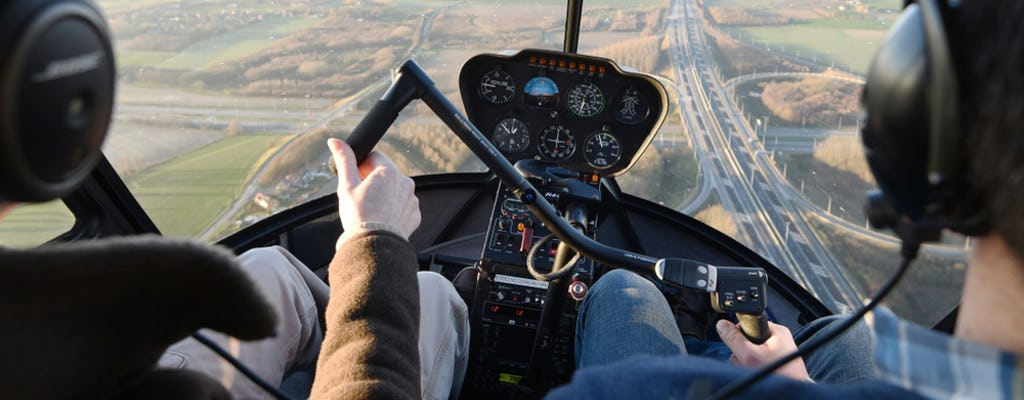 Private helicopter flight lesson from Westchester