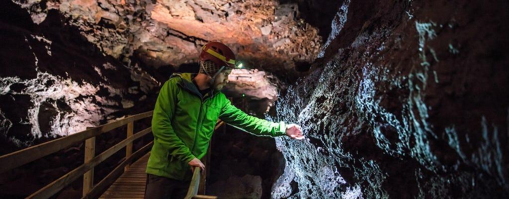 Excursão em grupo pequeno a Reykjavik para Silver Circle e visita à caverna de lava de Vidgelmir