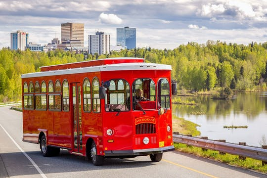 Trolley tour in Anchorage