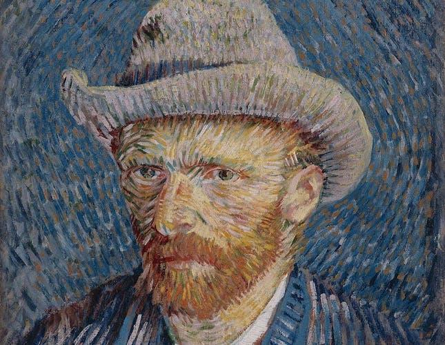Van Gogh painting self portrait
