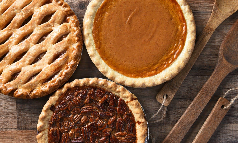 three delicious pies