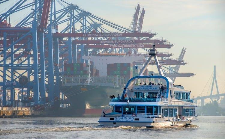 Port of Hamburg cruise and Elbphilharmonie tour_Port of Hamburg container bridges.jpeg