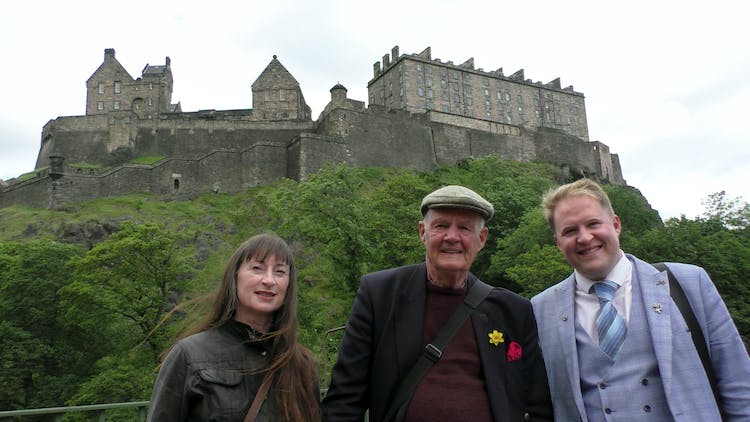 Group tours - Stuart Usher and son, Richard, with fellow guide Dr Alison Duncan.jpg